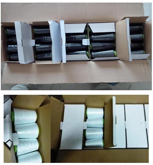 东南亚客户定制100g净重40s/2缝纫线